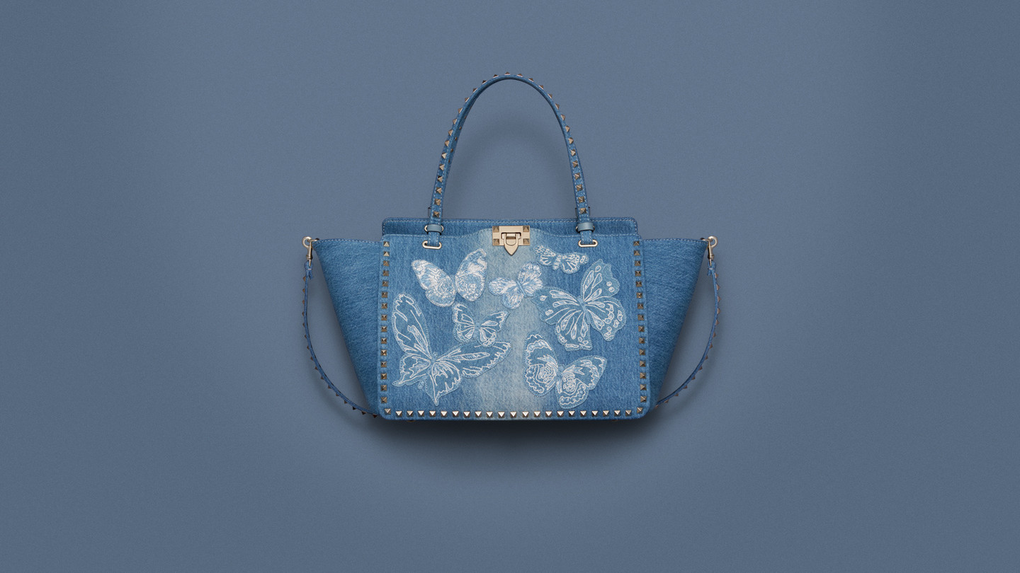 Valentino - White Mariposa, Garden & DenimEnchanting creations embellished with flowers and butterfliesDiscover the collection