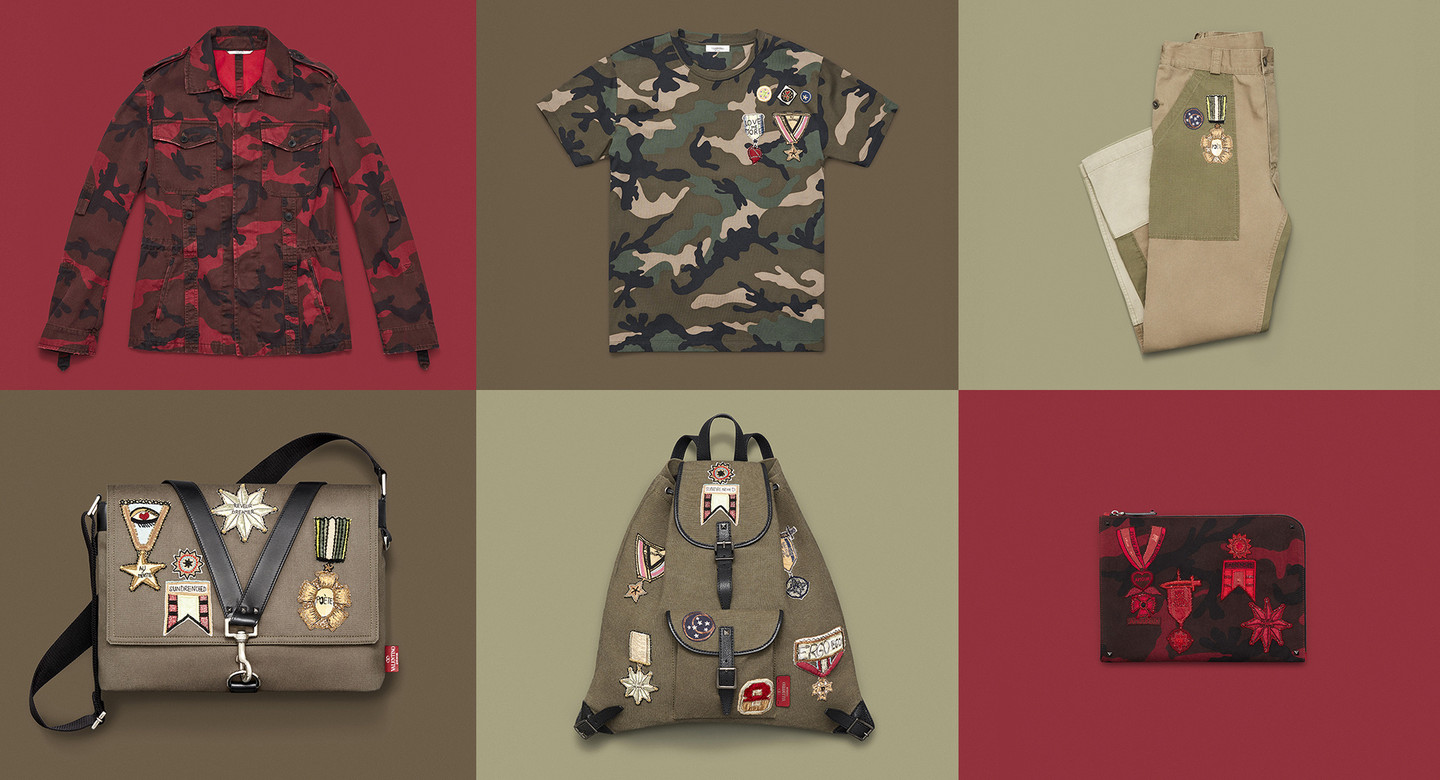 Valentino - Military decorationsSophisticated and contemporary look